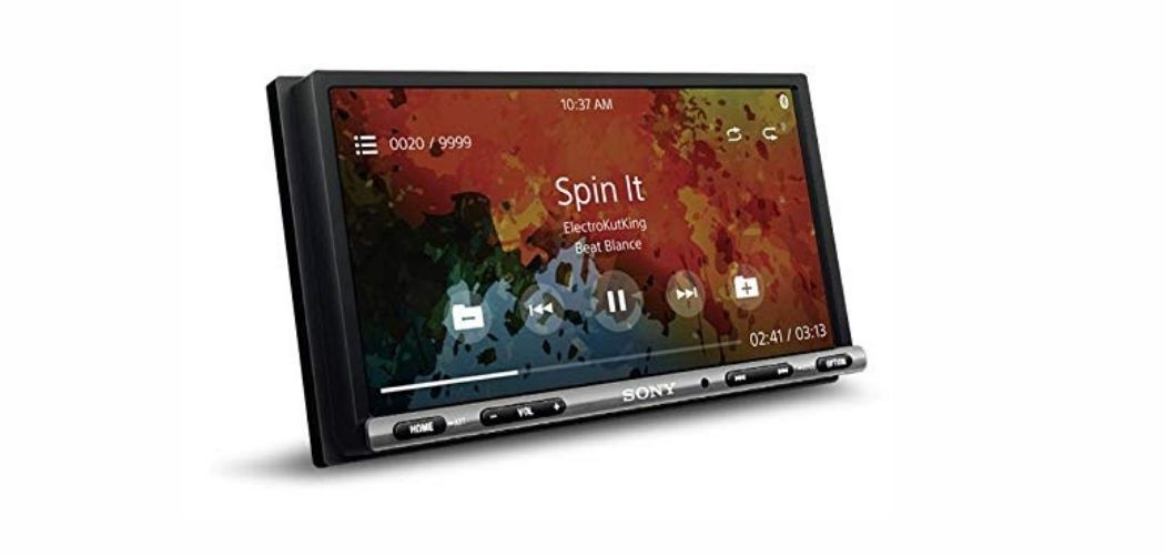sony touch screen music system
