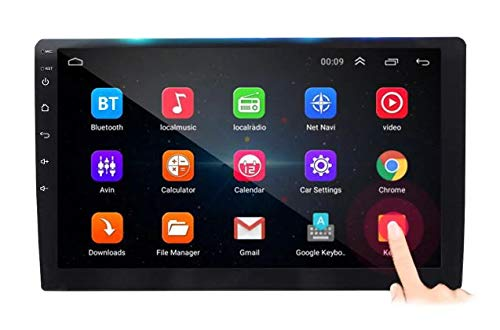 Auto Snap 9 Inch Full HD 1080 Touch Screen Double Din Player Android 10.1 Gorilla Glass IPS Display Car Stereo with GPS/Wi-Fi/Navigation/Mirror Link